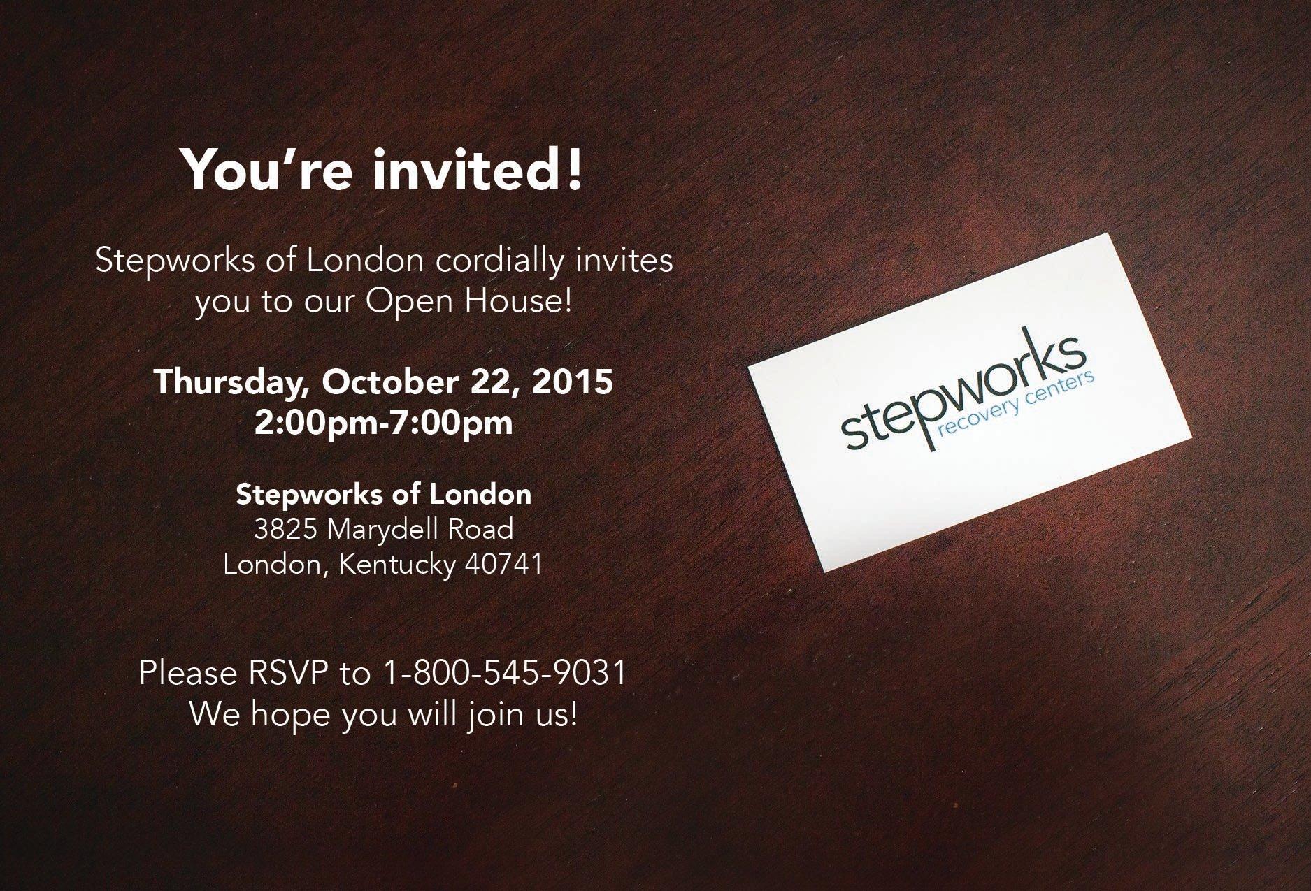 stepworks of london open house invitation